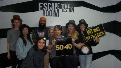 LCE team members escape the room